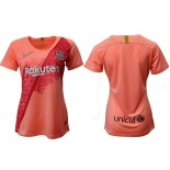 Women's 2018/19 Barcelona Third Pink Jersey