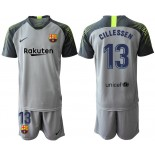 2019/20 Barcelona Goalkeeper #13 CILLESSEN Gray Jersey