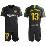 2019/20 Barcelona Goalkeeper #13 CILLESSEN Black Jersey