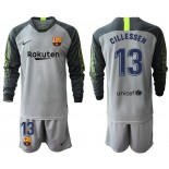 2019/20 Barcelona Goalkeeper #13 CILLESSEN Gray Long Sleeve Shirt