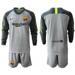 2019/20 Barcelona Goalkeeper Gray Long Sleeve Goalkeeper Shirt