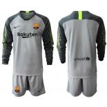 2019/20 Barcelona Goalkeeper Gray Long Sleeve Goalkeeper Shirt