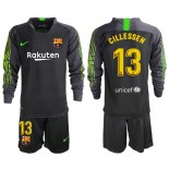 2019/20 Barcelona Goalkeeper #13 CILLESSEN Black Long Sleeve Shirt
