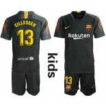 Youth 2019/20 Barcelona Goalkeeper #13 CILLESSEN Black Jersey