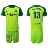 2019/20 Barcelona Goalkeeper #13 CILLESSEN Fluorescent Green Jersey