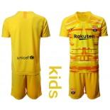 Youth 2019/20 Barcelona Goalkeeper Yellow Goalkeeper Jersey