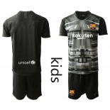 Youth 2019/20 Barcelona Goalkeeper Black Goalkeeper Jersey