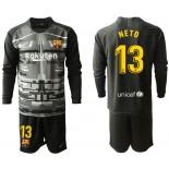 2019/20 Barcelona Goalkeeper #13 CILLESSEN Black Long Sleeve Shirt