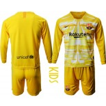 Youth 2019/20 Barcelona Goalkeeper Yellow Long Sleeve Shirt