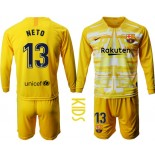 Youth 2019/20 Barcelona Goalkeeper #13 CILLESSEN Yellow Long Sleeve Shirt