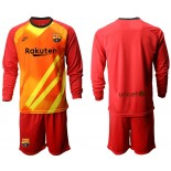 2019/20 Barcelona Goalkeeper Red Long Sleeve Shirt