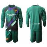 2019/20 Barcelona Goalkeeper Dark Green Long Sleeve Goalkeeper Shirt