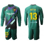 2019/20 Barcelona Goalkeeper #13 CILLESSEN Dark Green Long Sleeve Shirt