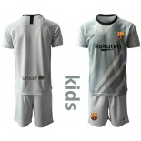 Youth 2019/20 Barcelona Goalkeeper Gray Jersey