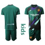 Youth 2019/20 Barcelona Goalkeeper Dark Green Goalkeeper Jersey