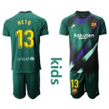Youth 2019/20 Barcelona Goalkeeper #13 CILLESSEN Dark Green Jersey