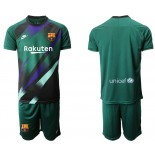2019/20 Barcelona Goalkeeper Dark Green Goalkeeper Jersey