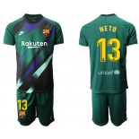 2019/20 Barcelona Goalkeeper #13 CILLESSEN Dark Green Jersey