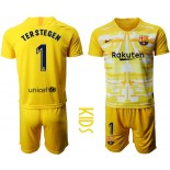2019/20 Barcelona Goalkeeper #1 TER STEGEN Yellow Jersey
