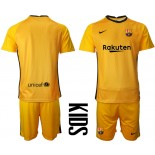 YOUTH Barcelona Goalkeeper Yellow 2020-21 Jersey