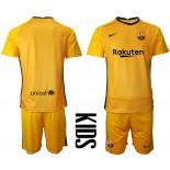 YOUTH Barcelona Goalkeeper Yellow 2020-21 Jersey