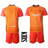 YOUTH Barcelona Goalkeeper Orange 2020-21 Jersey