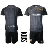 YOUTH Barcelona Goalkeeper Black 2020-21 Jersey