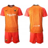 Barcelona Goalkeeper Orange 2020-21 Jersey