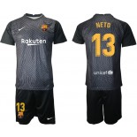 Barcelona Goalkeeper #13 NETO Black 2020-21 Jersey