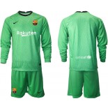 Barcelona Goalkeeper Green Long Sleeve 2020-21 Jersey
