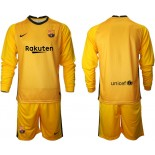 Barcelona Goalkeeper Yellow Long Sleeve 2020-21 Jersey