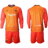 Barcelona Goalkeeper Orange Long Sleeve 2020-21 Jersey