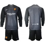 Barcelona Goalkeeper Black Long Sleeve 2020-21 Jersey