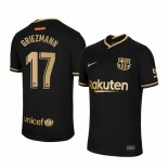 Womens 2020/21 Womens Barcelona #17 Antoine Griezmann Away Black Authentic Jersey