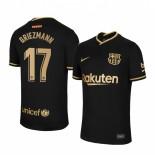 Womens 2020/21 Womens Barcelona #17 Antoine Griezmann Away Black Authentic Jersey