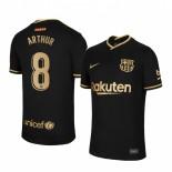 2020/21 Barcelona #8 Arthur Away Black Replica Jersey