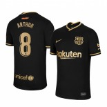 Womens 2020/21 Womens Barcelona #8 Arthur Away Black Replica Jersey