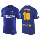Men's Barcelona #10 Lionel Messi Navy Blue T-Shirt