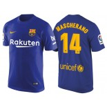 Men's Barcelona #14 Javier Mascherano Navy Blue T-Shirt