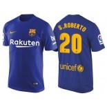 Men's Barcelona #20 Sergi Roberto Navy Blue T-Shirt