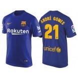 Men's Barcelona #21 Andre Gomes Navy Blue T-Shirt