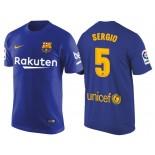 Men's Barcelona #5 Sergio Busquets Navy Blue T-Shirt