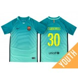 Youth Barcelona Alex Carbonell Green Glow 2016/17 Third Jersey