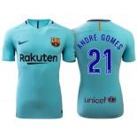 Andre Gomes #21 Barcelona 2017-18 Sky Blue Away Replica Jersey