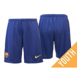 Youth Barcelona 2017-18 Blue Home Shorts