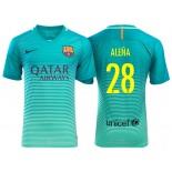 Men's Barcelona Carles Alena Green Glow 2016/17 Authentic Third Jersey