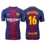 Gerard Deulofeu #16 Barcelona 2017-18 Royal Home Replica Jersey
