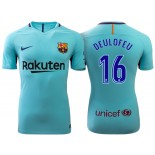 Gerard Deulofeu #16 Barcelona 2017-18 Sky Blue Away Authentic Jersey