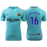 Gerard Deulofeu #16 Barcelona 2017-18 Sky Blue Away Replica Jersey