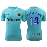 Javier Mascherano #14 Barcelona 2017-18 Sky Blue Away Authentic Jersey